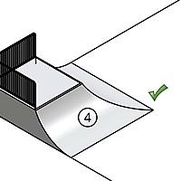 Zeichnung Quarter Hip 90°